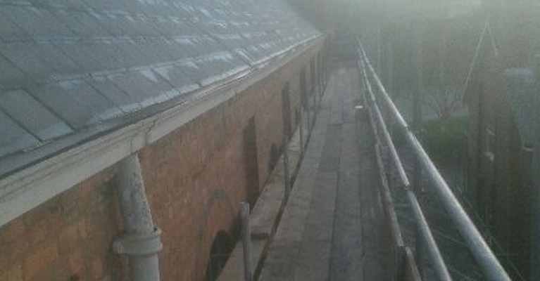A view along the Balsall Heath church roof