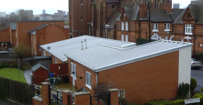 Midland Heart prior to Kingspan roofing in Birmingham