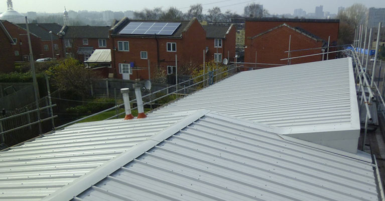 Birmingham composite roofing installation at its finish