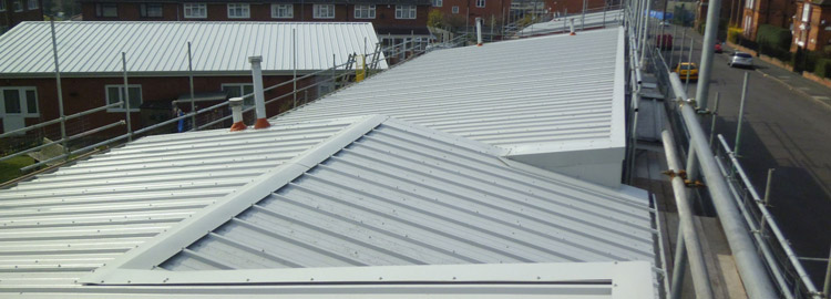 Kingspan composite roofing in Birmingham at Midland Heart