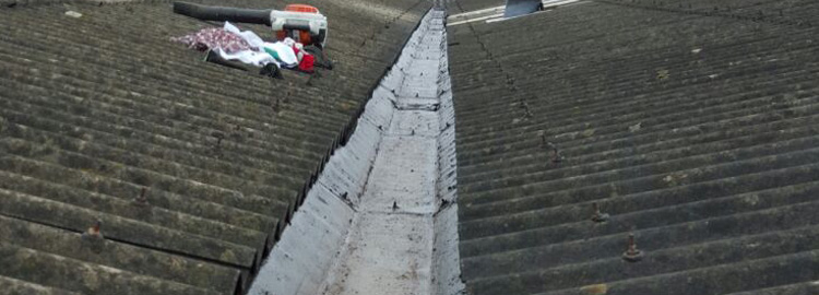 Industrial gutter cleaning In Walsall.