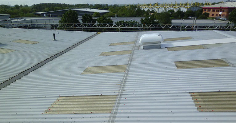 Finish of the industrial roof cleaning