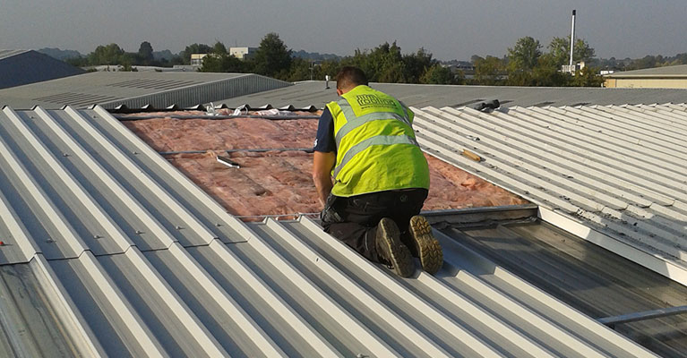 Butyl sealant applied by our IRM Roofing experts.