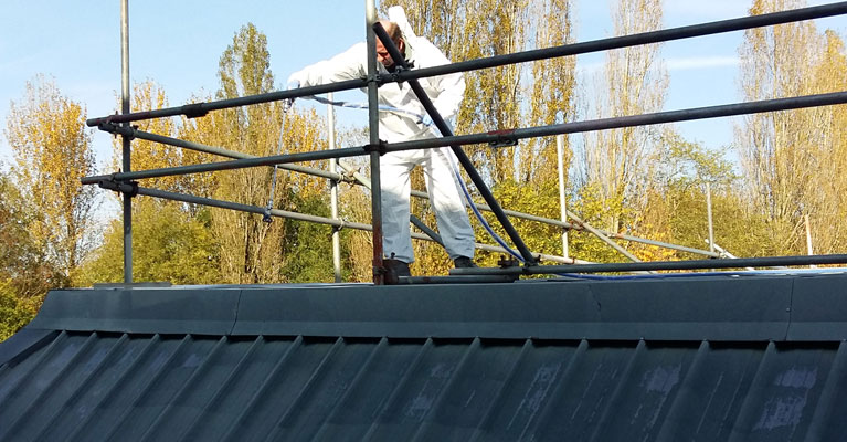 One of our industrial roofing experts in Swindon.