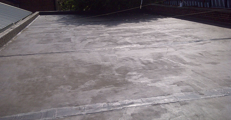 Sealer applied to the 200 square metre flat roof