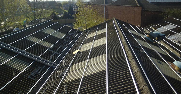 Overclad Asbestos Roofing In Walsall Irm Roofing