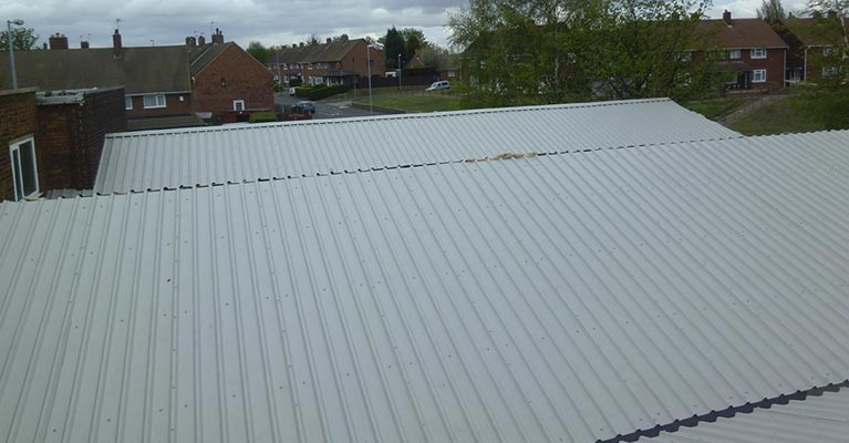 Overcladding asbestos roofing in Walsall