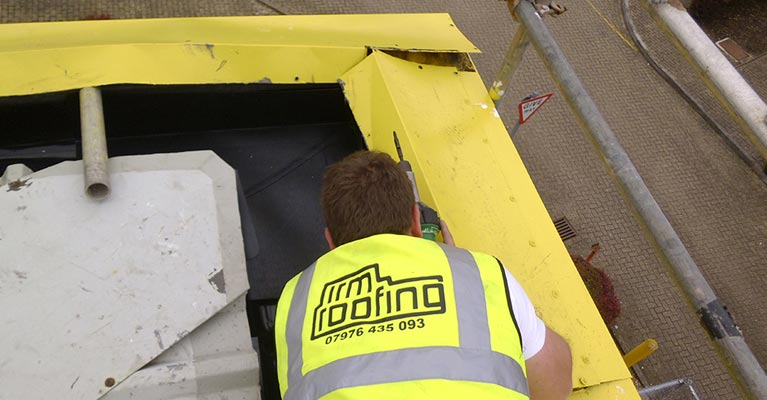IRM Roofing installing Plygene in Swindon