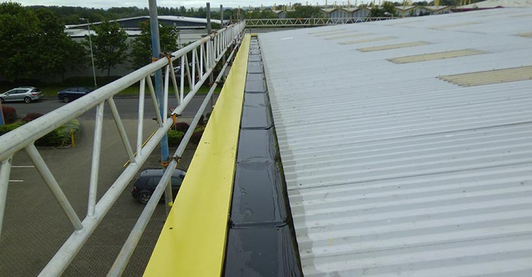50 metre long gutter fitted with Plygene