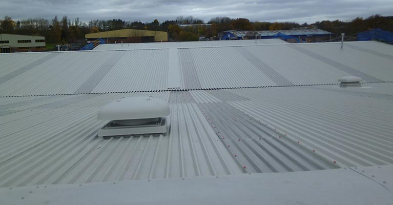 Industrial roof refurbishment in Telford, Shropshire