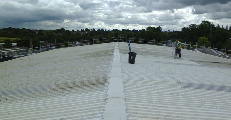 Industrial roof washdown