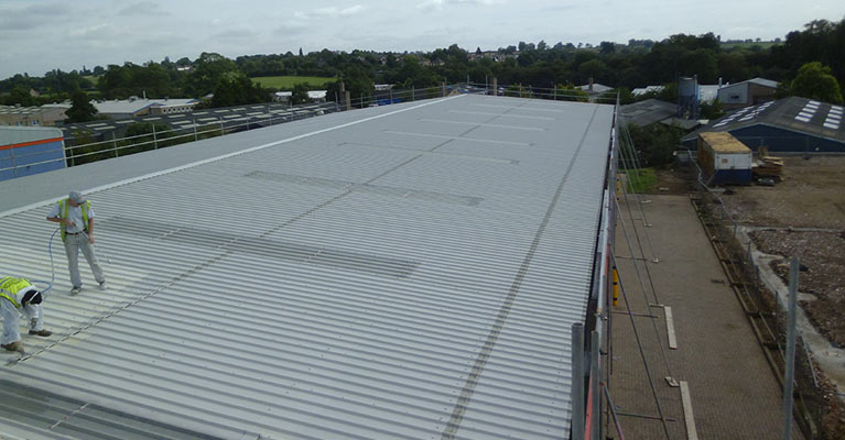 Industrial roof painting experts in Rugby