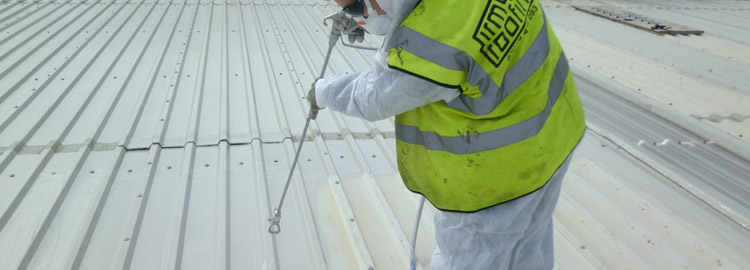 Washdown and industrial roof re-paint in Rugby