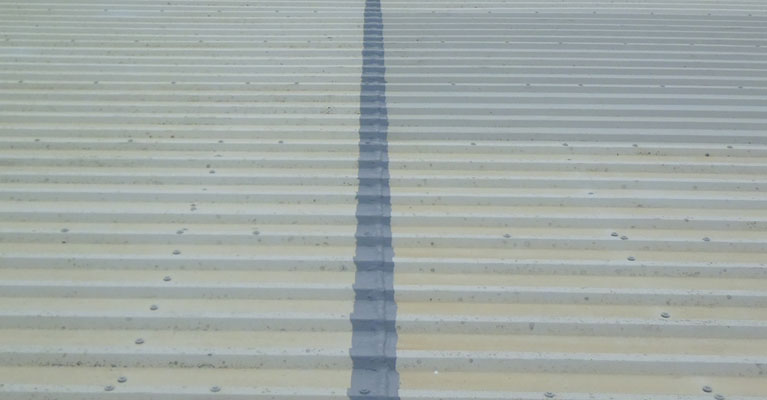 Giromax Delcote on metal profile roofing